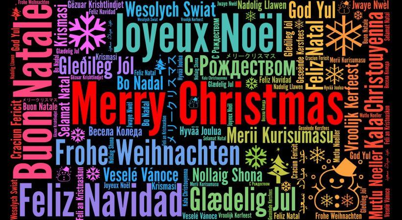 Feliz Natal em diferentes idiomas